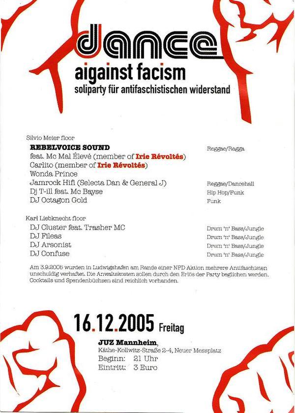 dance against fascism 16.12.2005